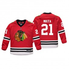 Youth Chicago Blackhawks Stan Mikita #21 Red Replica Player Home Jersey