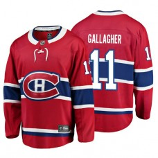 Youth Montreal Canadiens #11 Brendan Gallagher Red Home Breakaway Player Jersey
