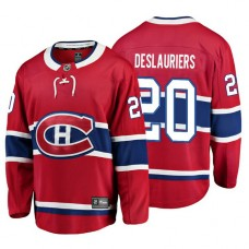 Youth Montreal Canadiens #20 Nicolas Deslauriers Red Home Breakaway Player Jersey