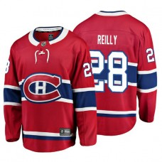 Youth Montreal Canadiens #28 Mike Reilly Red Home Breakaway Player Jersey