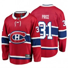 Youth Montreal Canadiens #31 Carey Price Red Home Breakaway Player Jersey