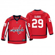 Youth Washington Capitals Christian Djoos #29 Red Replica Player Home Jersey