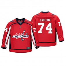 Youth Washington Capitals John Carlson #74 Red Replica Player Home Jersey