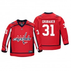 Youth Washington Capitals Philipp Grubauer #31 Red Replica Player Home Jersey