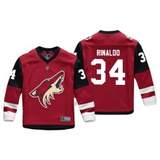 Youth Arizona Coyotes Zac Rinaldo #34 Red Replica Player Home Jersey