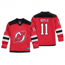 Youth New Jersey Devils Brian Boyle #11 Red Replica Player Home Jersey