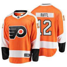 Youth Philadelphia Flyers #12 Michael Raffl Orange Home Breakaway Player Jersey