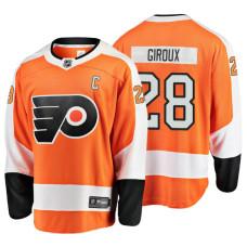 Youth Philadelphia Flyers #28 Claude Giroux Orange Home Breakaway Player Jersey