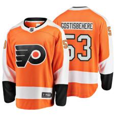 Youth Philadelphia Flyers #53 Shayne Gostisbehere Orange Home Breakaway Player Jersey