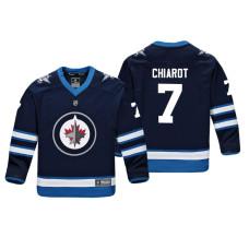 Youth Winnipeg Jets Ben Chiarot #7 Navy Replica Player Home Jersey