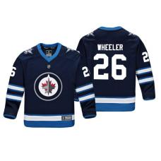 Youth Winnipeg Jets Blake Wheeler #26 Navy Replica Player Home Jersey
