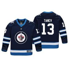 Youth Winnipeg Jets Brandon Tanev #13 Navy Replica Player Home Jersey