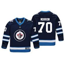 Youth Winnipeg Jets Joe Morrow #70 Navy Replica Player Home Jersey