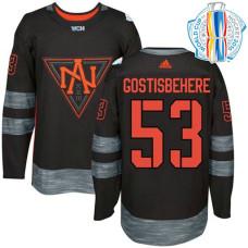 Youth North America Team 2016 World Cup of Hockey #53 Shayne Gostisbehere Black Premier Jersey