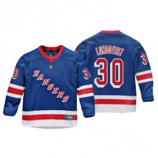 Youth New York Rangers Henrik Lundqvist #30 Royal Replica Player Home Jersey