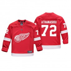 Youth Detroit Red Wings Andreas Athanasiou #72 Red Replica Player Home Jersey