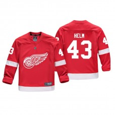 Youth Detroit Red Wings Darren Helm #43 Red Replica Player Home Jersey