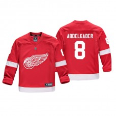 Youth Detroit Red Wings Justin Abdelkader #8 Red Replica Player Home Jersey
