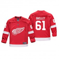 Youth Detroit Red Wings Xavier Ouellet #61 Red Replica Player Home Jersey