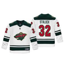Youth Minnesota Wild Alex Stalock #32 White Replica Player Fanatics Branded Jersey