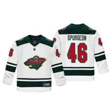 Youth Minnesota Wild Jared Spurgeon #46 White Replica Player Fanatics Branded Jersey