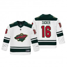 Youth Minnesota Wild Jason Zucker #16 White Replica Player Fanatics Branded Jersey