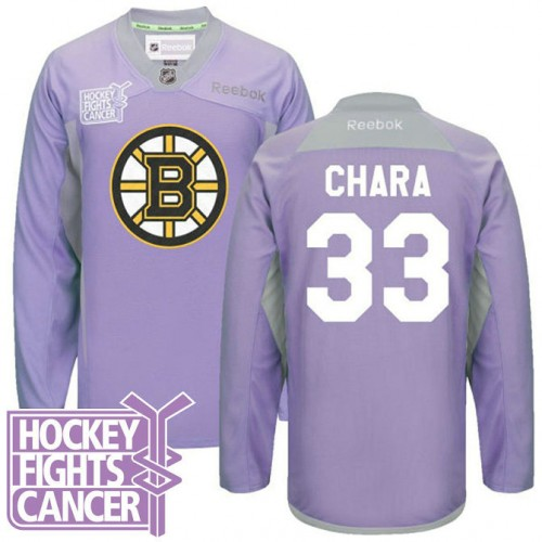newest 94bb6 d5523 Zdeno Chara Boston Bruins #33 Purple Hockey Fights Cancer Jersey