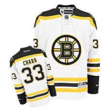 Youth Boston Bruins Zdeno Chara #33 White Away Jersey