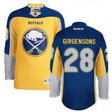 Buffalo Sabres Zemgus Girgensons #28 Gold Alternate Jersey