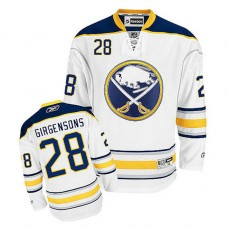 Buffalo Sabres Zemgus Girgensons #28 White Away Jersey